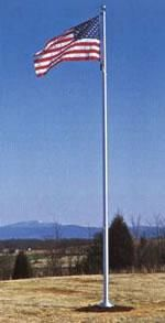 Deluxe Series Aluminum Flagpole With Internal Halyard 20X5 Flagpoles Internal Halyards