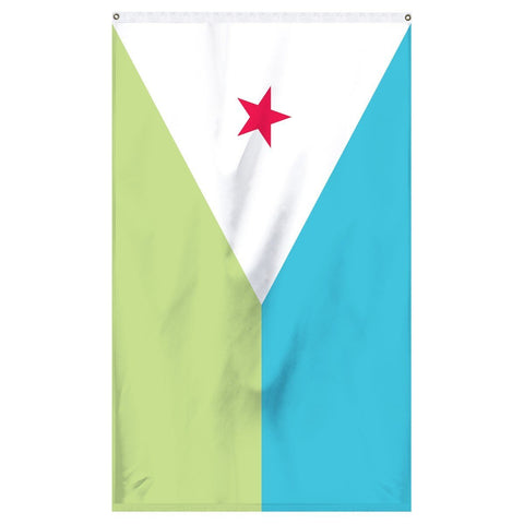 The national flag of Djibouti for sale for flagpoles, parades, and collectors