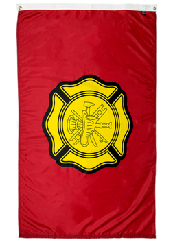 red and yellow fire department flag for sale online