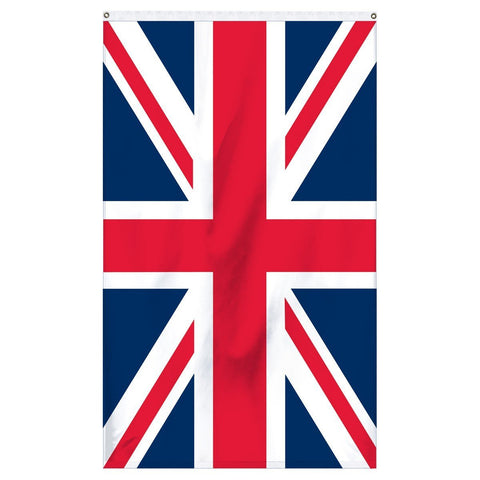 United Kingdom (Great Britain) National Flag for sale to buy online from Atlantic Flagpole. Traditional Great Britain flag with navy blue and red and white crosses.