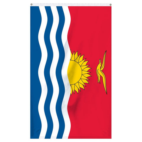 The national flag of Kiribati for sale online to buy now from Atlantic Flag and Pole
