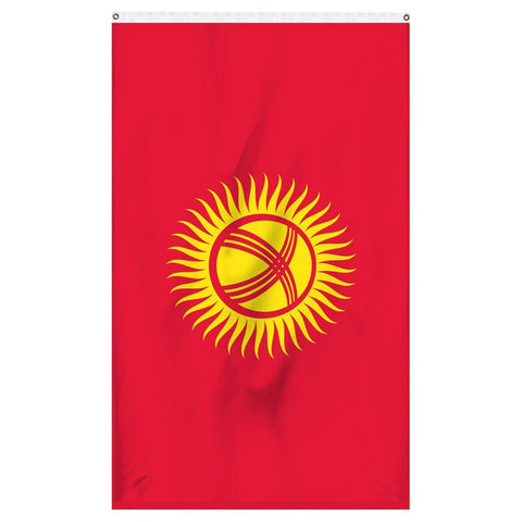 The national flag of Kyrgystan for sale online from Atlantic Flag and Pole