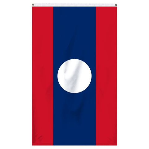 The national flag of Laos for sale online to buy from Atlantic Flag and Pole
