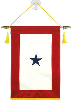 Service Star Banner With Cord And Tassel 8X15 American Made Flag Blue Star Service Flags In Us Military
