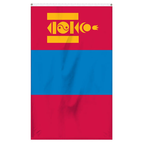 Mongolia national flag for sale online from Atlantic Flagpole.