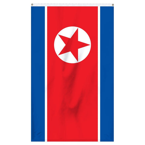 North Korea national flag for sale to buy online. Made in america flag.