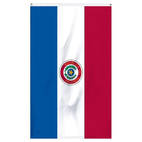 Paraguay National flag for sale to buy online now from Atlantic Flag and Pole