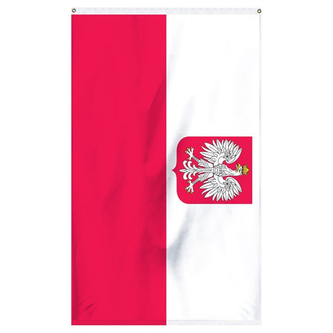 Poland State flag with Eagle emblem for sale to buy online