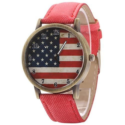 The American Pride Watch Red