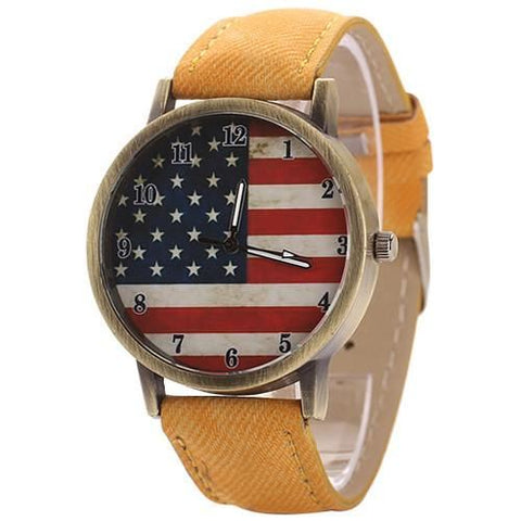 The American Pride Watch Yellow