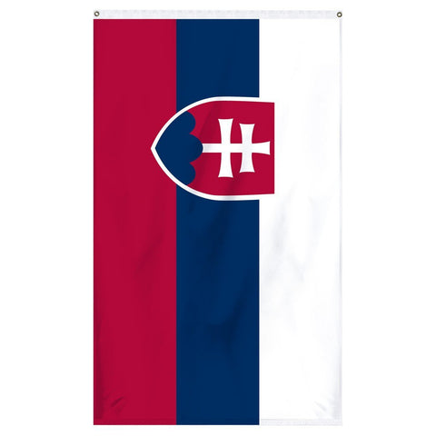 Slovakia National flag for sale to buy online from Atlantic Flag and Pole