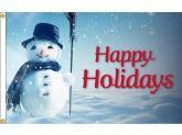 Happy Holidays Snowman Flag Christmas Flag Happy Holidays Holiday Snow Man Snowman
