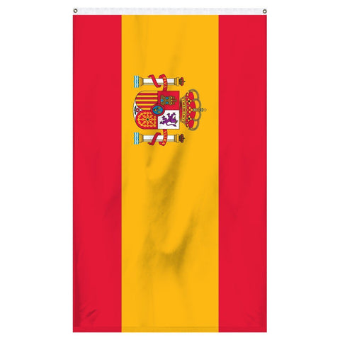 Spain National flag for sale to buy online from Atlantic Flag and Pole. Red and yellow flag with Spanish coat of arms.