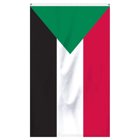 Sudan National flag for sale to buy online from Atlantic Flag and Pole. Green, red, white, and black flag.