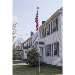 Image of Telescoping Flagpole with Free American Flag, Securi-Shur Anti-Theft Locking Clamp, and Lifetime Anti-Theft Guarantee