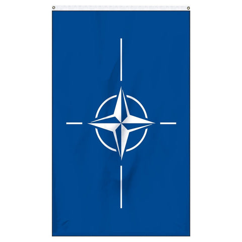 The official flag of Nato for sale to buy online now for flagpoles, parades, and government buildings.