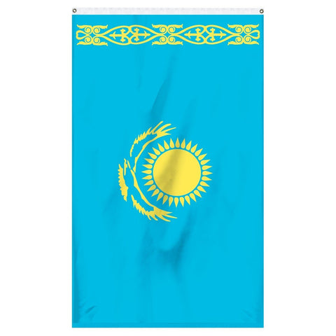The flag for Kazakhstan for sale to fly on flagpoles and carry in parades