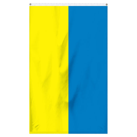 Ukraine National Flag for sale to buy online from Atlantic Flagpole. Blue and yellow stripped flag.