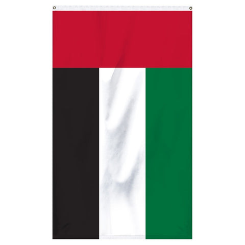United Arab Emirates National Flag for sale to buy online from Atlantic Flagpole. Green, red, white, and black country flag.