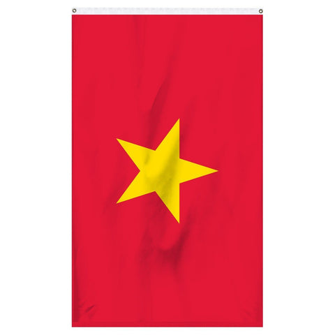 Vietnam National flag for sale to buy online from the American company Atlantic Flag and Pole. Red flag with one large yellow star.