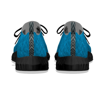 Aqua Blue Leather - Black Soles