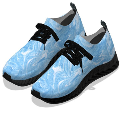 Baby Blue Water Stone - Black Soles