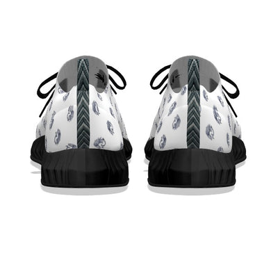 Koi Fish White - Black Soles