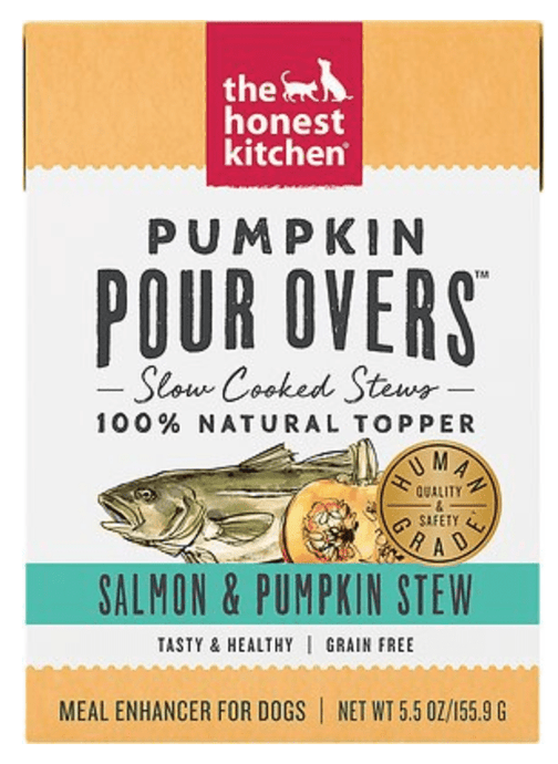 Honest Kitchen Canned Dog Food Honest Kitchen Pumpkin Salmon & Pumpkin Stew Pour Overs - Case of 12