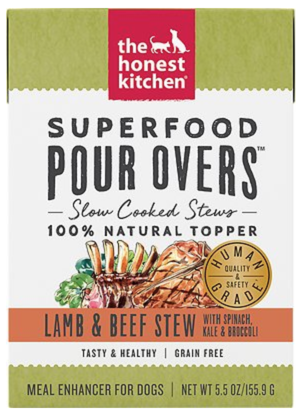 Honest Kitchen Canned Dog Food Honest Kitchen Superfood Lamb & Beef Stew Pour Overs - Case of 12
