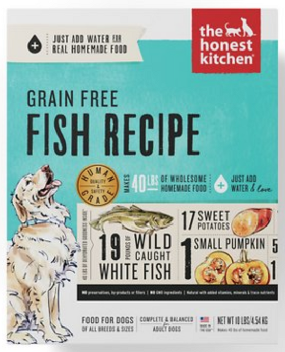 Honest Kitchen Raw Dog Food Honest Kitchen Grain Free Dehydrated Fish Recipe Dog Food