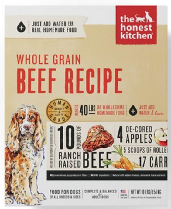 Honest Kitchen Raw Dog Food Honest Kitchen Whole Grain Dehydrated Beef Recipe Dog Food