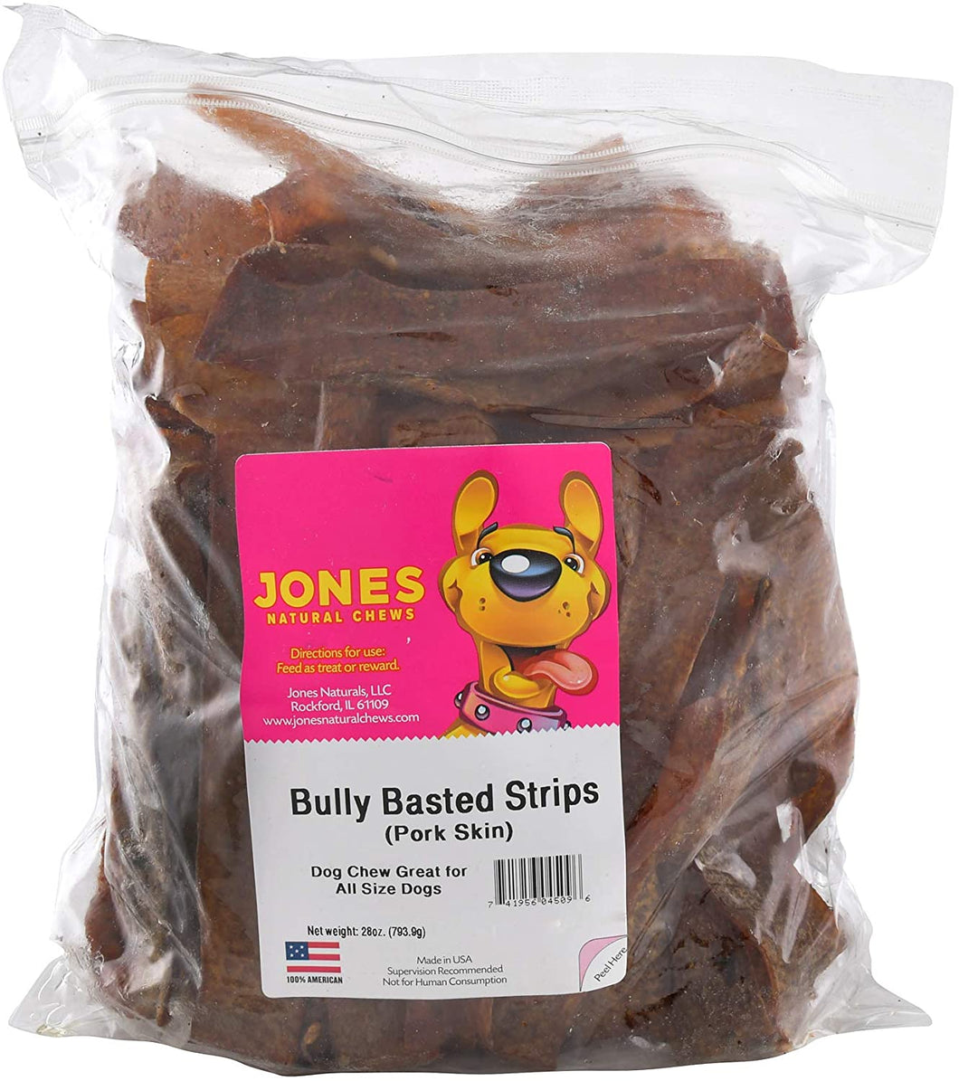 Jones Natural Chews Treats Bully Basted Strips