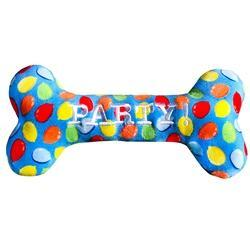 Lulubelle Birthday Small Blue Party Bone Toy
