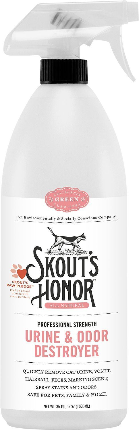Polkadog Delivery Stain Remover 35oz Skout's Honor Stain and Odor Remover for Cats