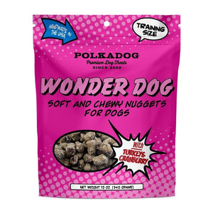 Polkadog Delivery Wonder Dog Soft & Chewy Nuggets for Dogs - Turkey & Cranberry 12oz