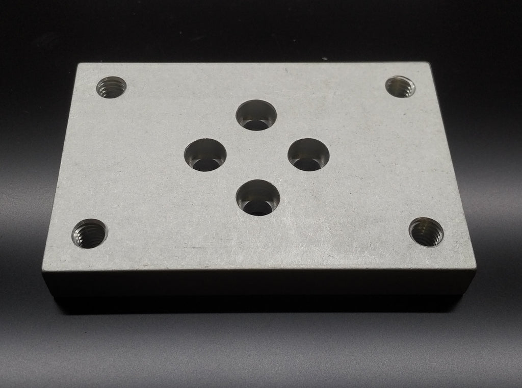 (BPC-010-A) 10 SERIES FLANGE MOUNT CASTER BASE PLATE
