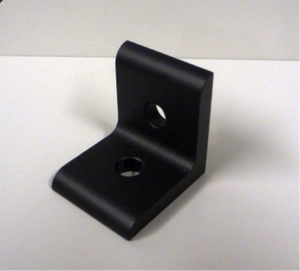 15 Series 2 HOLE INSIDE CORNER BRACKET – BLACK ANODIZED