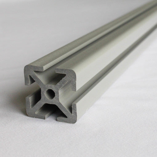 "15 Series PVC plastic T-slot (1.5""x1.5"") - Aluminum Gray 60"" length"