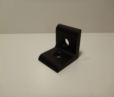 10 Series 2 HOLE INSIDE CORNER BRACKET – BLACK ANODIZED