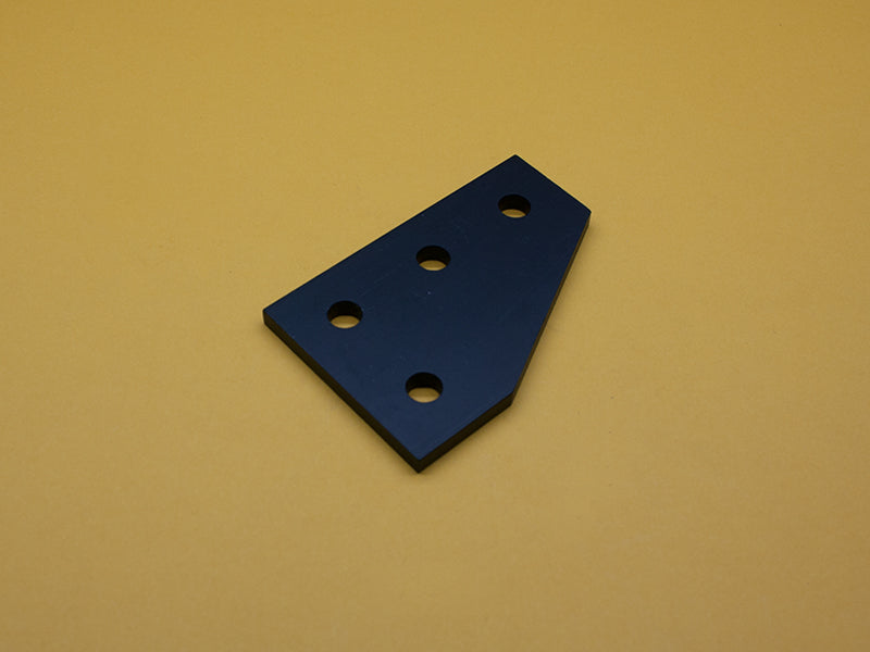 (JP-010-G-BLACK) 10 SERIES 4 HOLE 90° JOINING PLATE – BLACK ANODIZE (LOT OF 500))