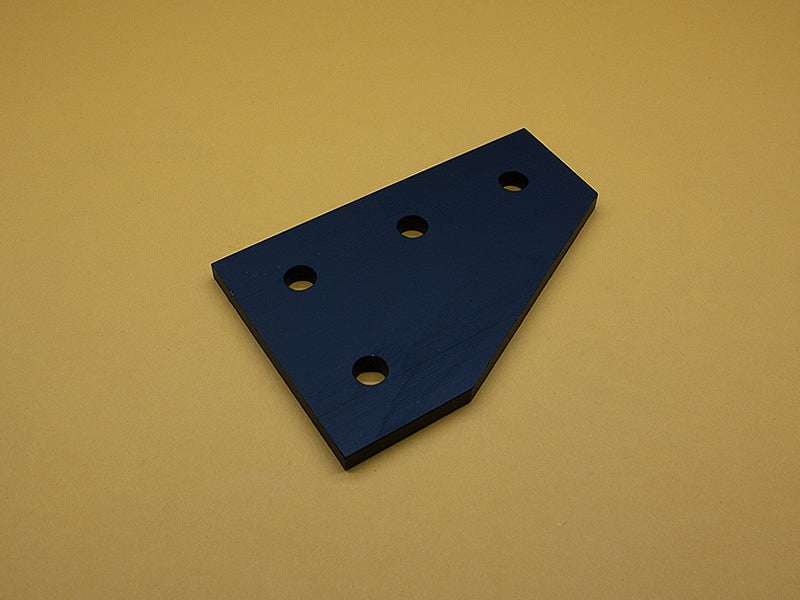 (JP-015-G-BLACK) 15 SERIES 4 HOLE 90° JOINING PLATE – BLACK ANODIZE