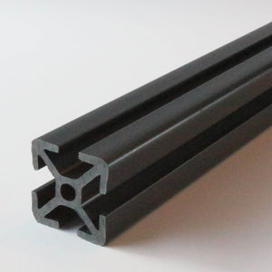 "15 Series PVC plastic T-slot (1.5""x1.5"") - Midnight Gray 60"" length"