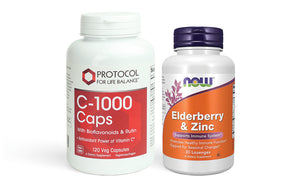 Vitamin C + Elderberry & Zinc Bundle