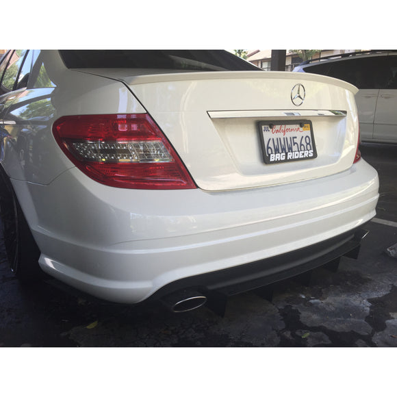 MERCEDES BENZ C300 Rear Diffuser (2008-2013)