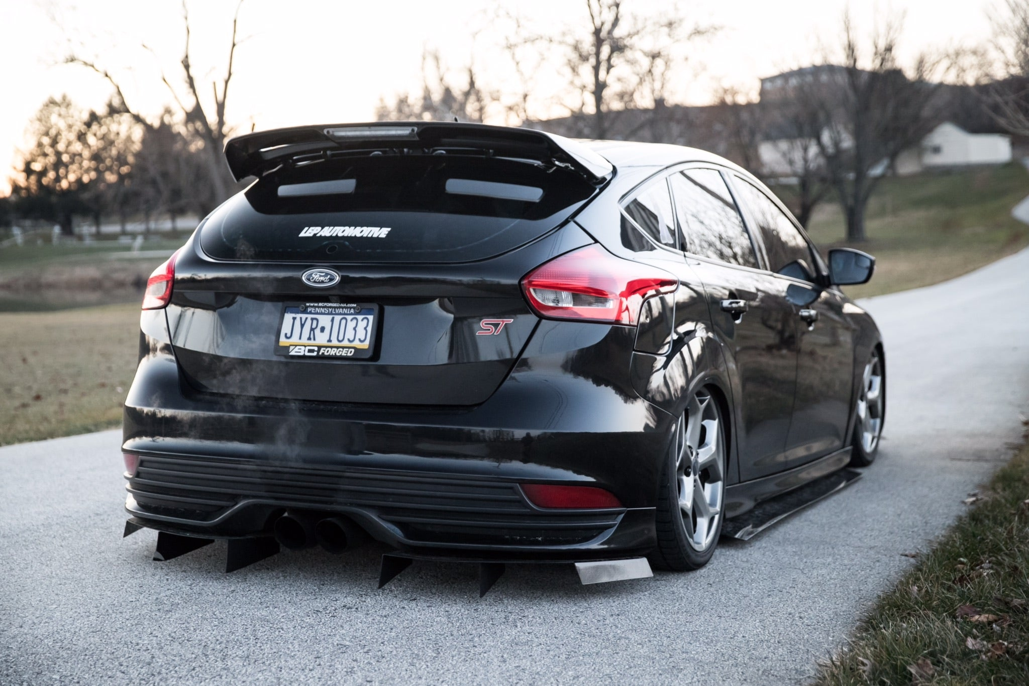 Side Skirts Fits 2013-2016 Ford Focus ST /& 2016-2017 Ford Focus RS Buddy Club Style Black PU Sideskirts Rocker Moulding Trim Bottom Line by IKON MOTORSPORTS 2014 2015