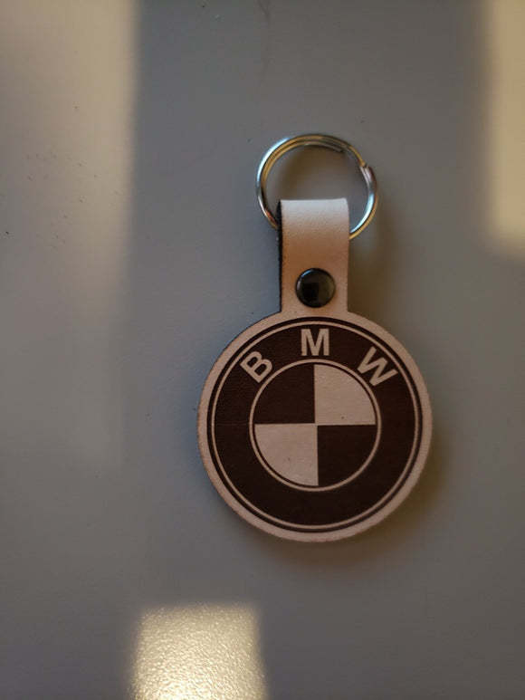BMW Leather Keychain