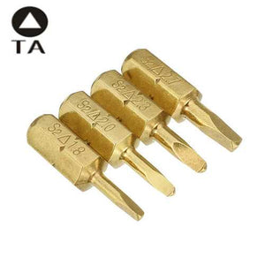 Electroplating Bronze Triangle Shaped Screwdriver Bits