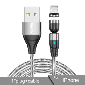 Magnetic Xiaomi Samsung 540 Degree Rotate USB Cable for iPhone Charger | Free Only Pay for Shipping!