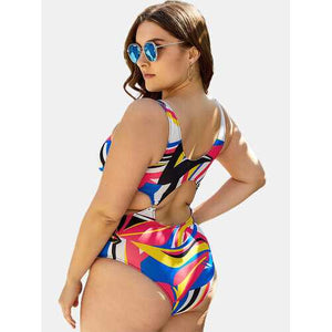 Plus Size Cut Out Sexy One Piece