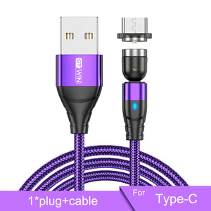 Copy of GTWIN Magnetic USB Cable for iPhone Charger 540 Degree Rotate USB Type C Cable for Xiaomi Samsung Magnet Charge Micro USB Cable...Free